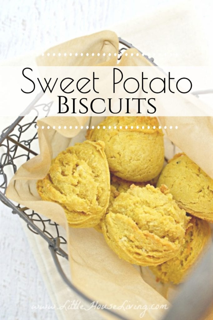 I'm always looking for new recipes that use extra veggies or fruits for a little extra dose of healthy when we don't even think about it. This old fashioned Sweet Potato Biscuit recipe is a perfect fit! #sweetpotatobiscuits #homemadebiscuits #biscuitsfromscratch #sweetpotatorecipes #leftoverrecipes