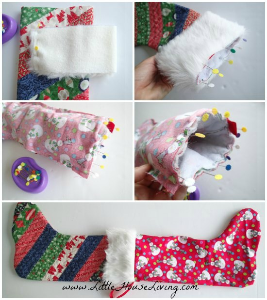 Simple Sewing Pattern for a Christmas Stocking - Little House Living