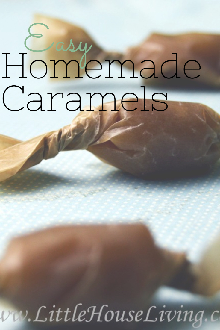 This recipe for easy Homemade Caramels is the perfect treat to make during the holiday season. These soft, chewy caramels do not contain corn syrup!  #easyhomemadecaramelsrecipe #homemadecaramels #homemadecaramelcandy #homemadecandy #diycaramels #caramelswithoutcornsyrup