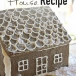 This Easy Gingerbread House Recipe is simple, beautiful and delicious! Plus it's gluten free and allergen friendly so everyone can enjoy it! #glutenfree #allergenfriendly #homemadegingerbread #simpleChristmas #glutenfreegingerbread #fromscratch