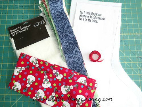 Christmas Stocking Sewing Pattern Materials