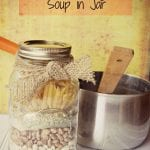 Looking for a fun gift idea of a great dry soup in a jar to keep in your pantry? This yummy homemade Pasta Fagioli Soup Mix is a great filling (and tasty!) recipe to create! #pastafagioli #drysoupmix #soupmixrecipe