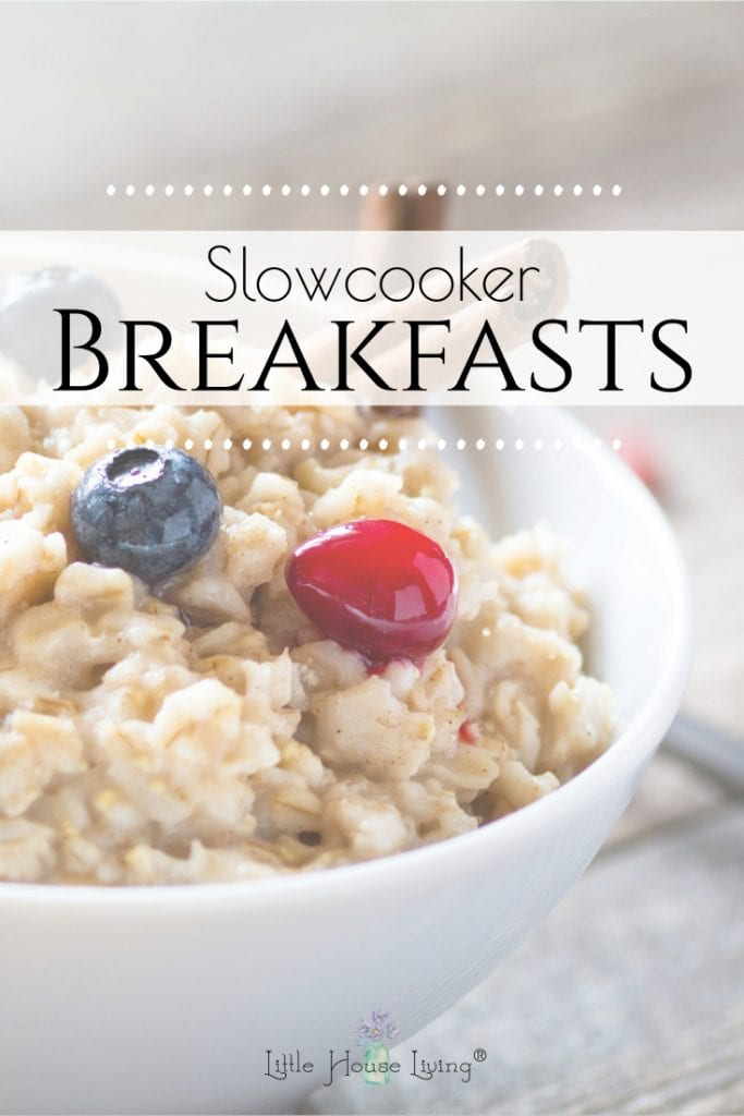 Three delicious and easy slow cooker breakfast recipes to simplify your mornings. Just a few minutes the night before and you will have a warm breakfast ready for the whole family. #slowcookerbreakfast #crockpotbreakfast #overnightbreakfast #makeaheadmeals