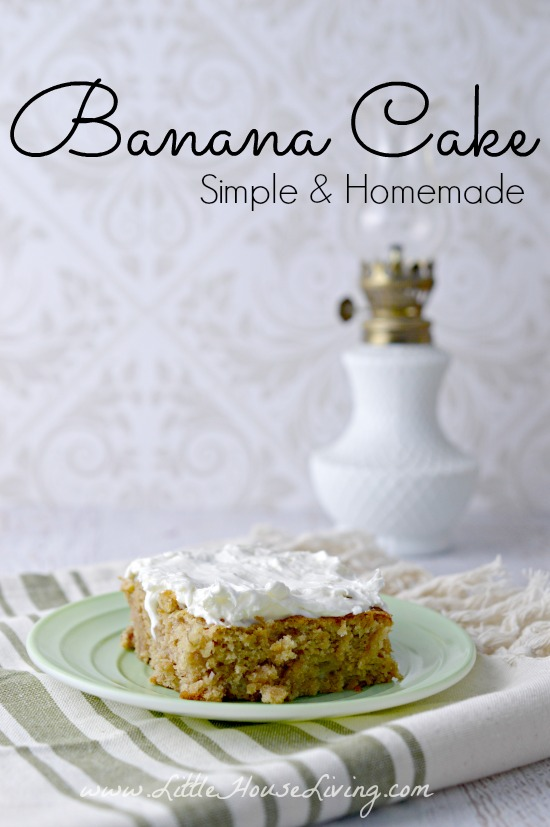 This yummy Banana Cake Recipe is a great way to use up some extra bananas. It's so simple to make and allergen-friendly so that everyone can enjoy it! #bananacake #simplebananacake #bananacakerecipe #alergenfriendly #eggfree #dairyfree #nutfree #glutenfree
