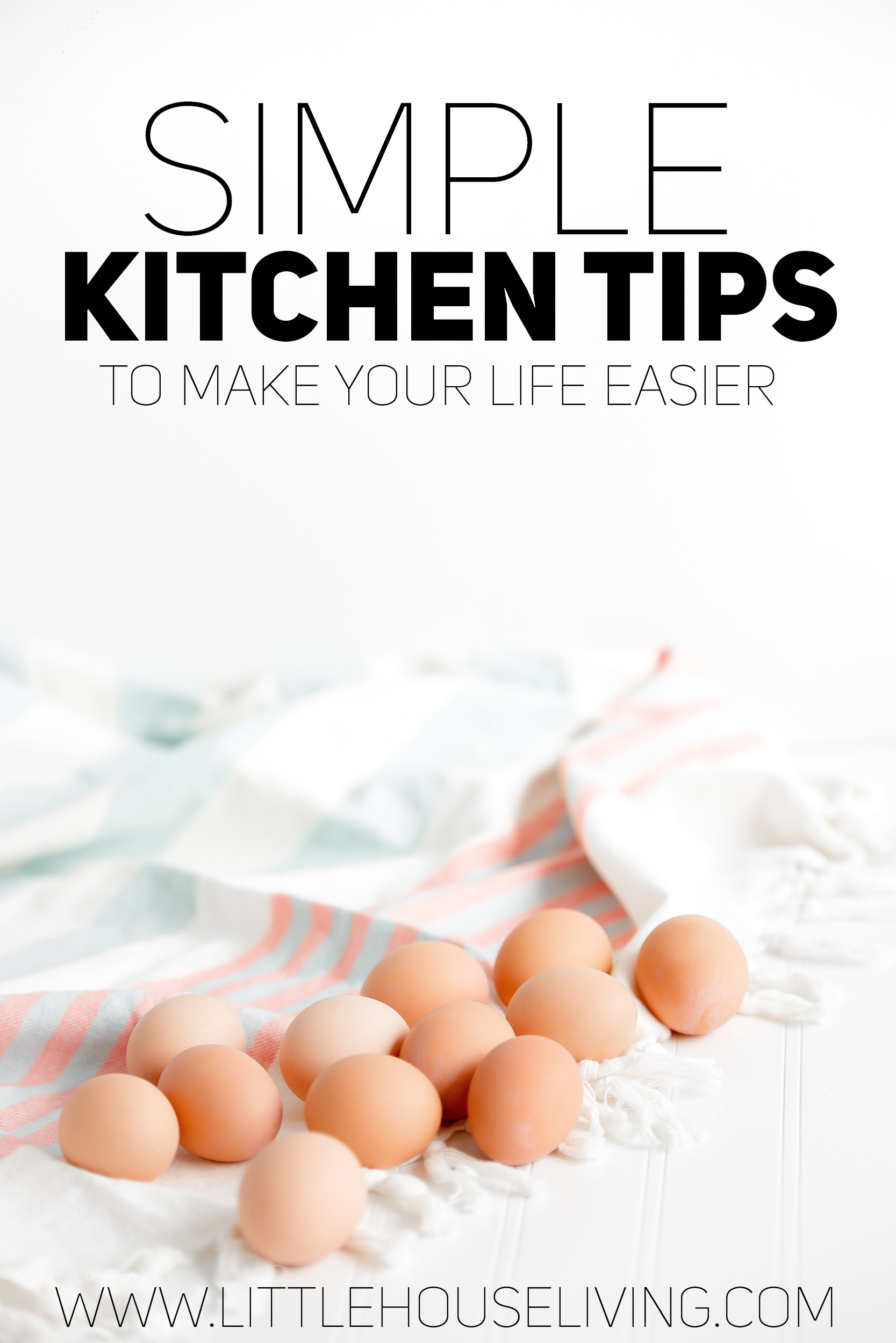 Simple Kitchen Tips to help make your life easier. Great tips on how to tell if eggs are good, tips on washing produce, and MUCH more!