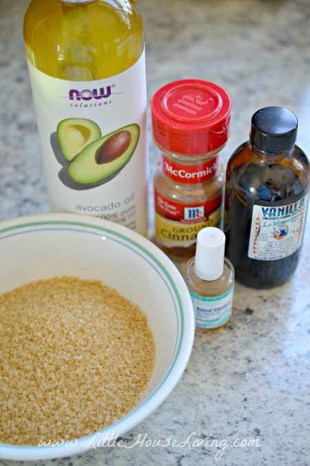 Ingredients for Homemade Body Scrub