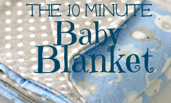 10 Minute Simple Baby Receiving Blanket Pattern