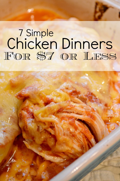 Dinner Recipes With Chicken Under $7 - Little House Living