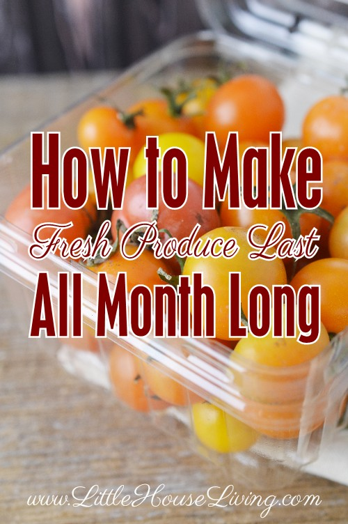 Trying to get by as long as you can until your next shopping trip? Here are some tips on how to make produce last as long as possible!