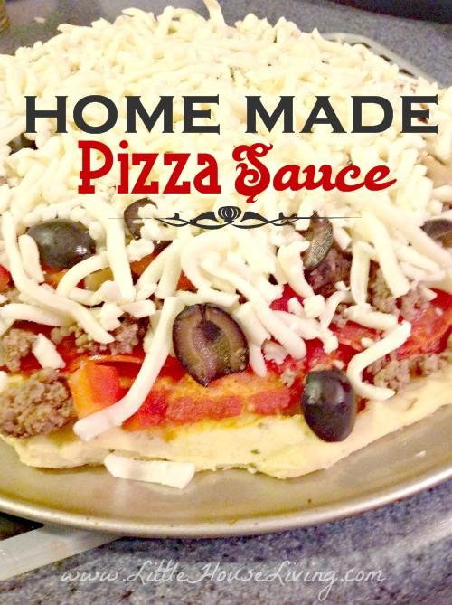 Easy Homemade Pizza Sauce Recipe - Little House Living