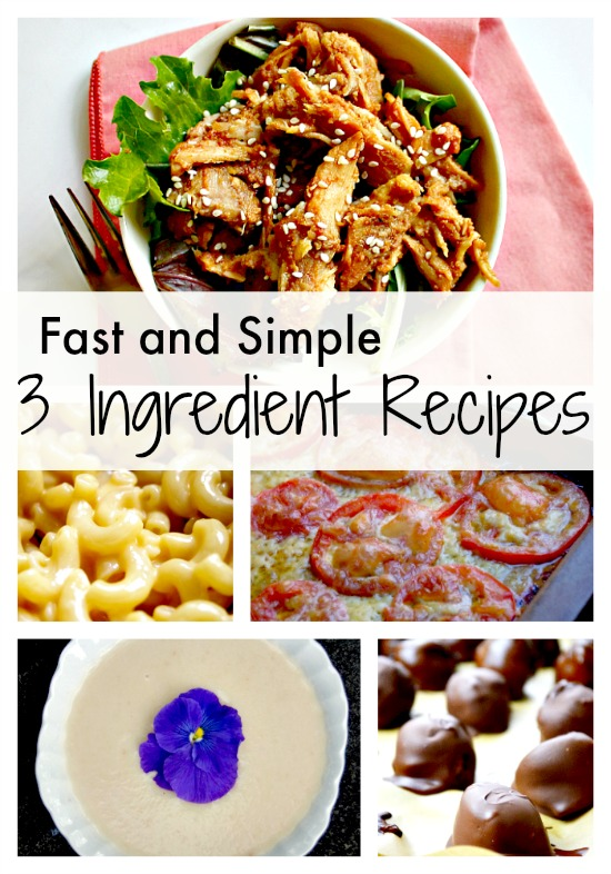 Fast and Simple 3 Ingredient (from scratch!) Recipes