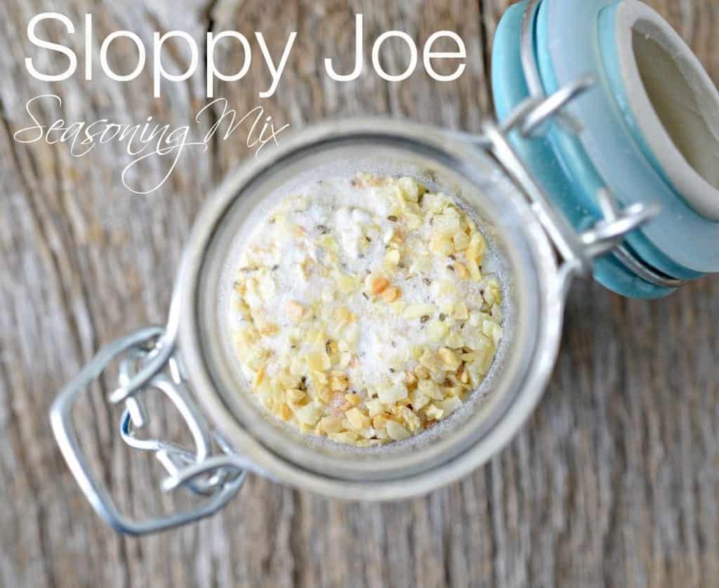 Sloppy Joe Seasoning Mix Recipe