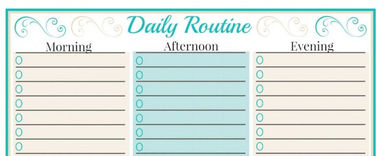 Free Weekly Planner Templates Family Organization and Planning – Daily Routine Template