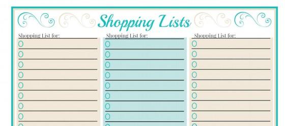 shoppinglists