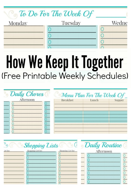 Free Printable Weekly Planner | How We Keep It Together And Free Weekly Planner Templates