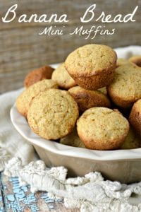 These little mini muffins taste just like the Banana Bread you know and love, but they are in a mini take-along treat size. Perfect for freezing for later or for grab and go snacks for the summer when it seems like we always have somewhere to be. Either way, I have a feeling this recipe is going to stick around our home for a while. #bananabreadmuffins #bananamuffinsrecipe