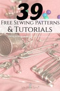 Looking for some new sewing ideas for yourself or a gift? This list is full of more free sewing patterns that you will enjoy making! #freeprintable #freesewingpatterns #printable sewing patterns