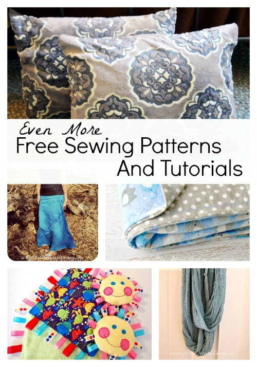 Even More Free Sewing Patterns and Tutorials