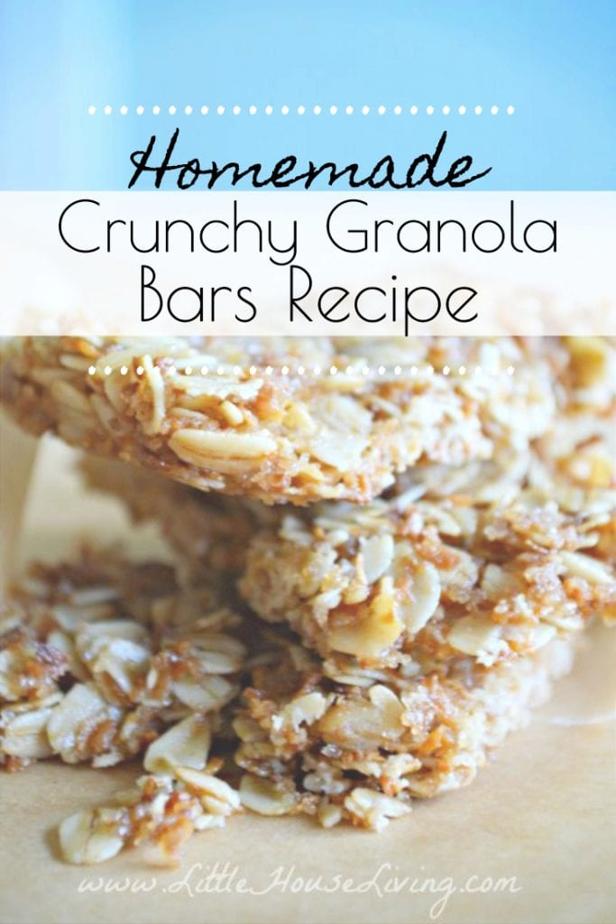 This Crunchy Granola Bar Recipe is a great alternative to store-bought, prepackaged granola bars. They are easy and fairly inexpensive to make and perfect to have on hand for breakfast or on the go snacks! #homemadegranolabars #crunchygranolabars #allergenfriendly #snack #kidfriendly