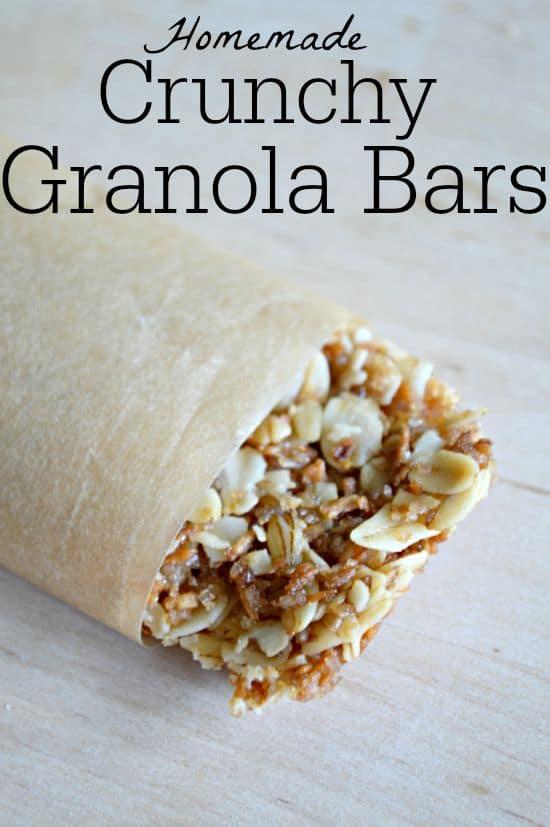 Granola Bars Homemade Style