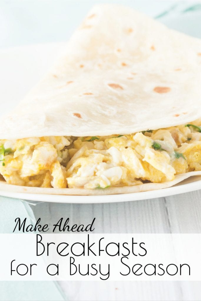 Are you struggling to get a healthy breakfast on the table on busy mornings? These Make Ahead Breakfasts can be prepared in advance to save you time on busy days! #freezermeals #makeaheadmeals #breakfastideas