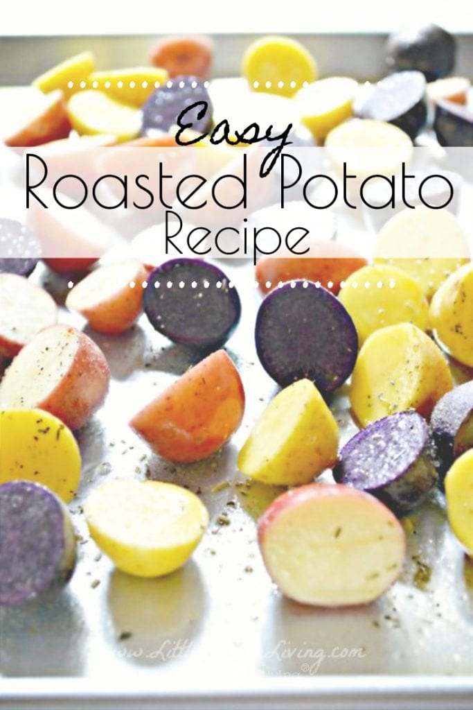 This Easy Roasted Potato Recipe is the perfect way to enjoy your fresh potatoes. It's a simple side dish that your family will want to enjoy alongside all of your favorite meals. #simplesidedish #roastedpotatoes #potatorecipe