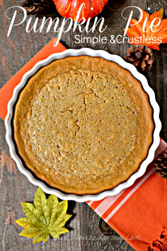 Crustless Simple Pumpkin Pie Recipe