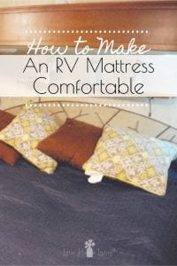 It's hard to live in an RV fulltime when you are dealing with something uncomfortable like the RV mattress. Over the years, we've tried several methods of trying to make our RV mattress bearable and I'm sharing those with you today.