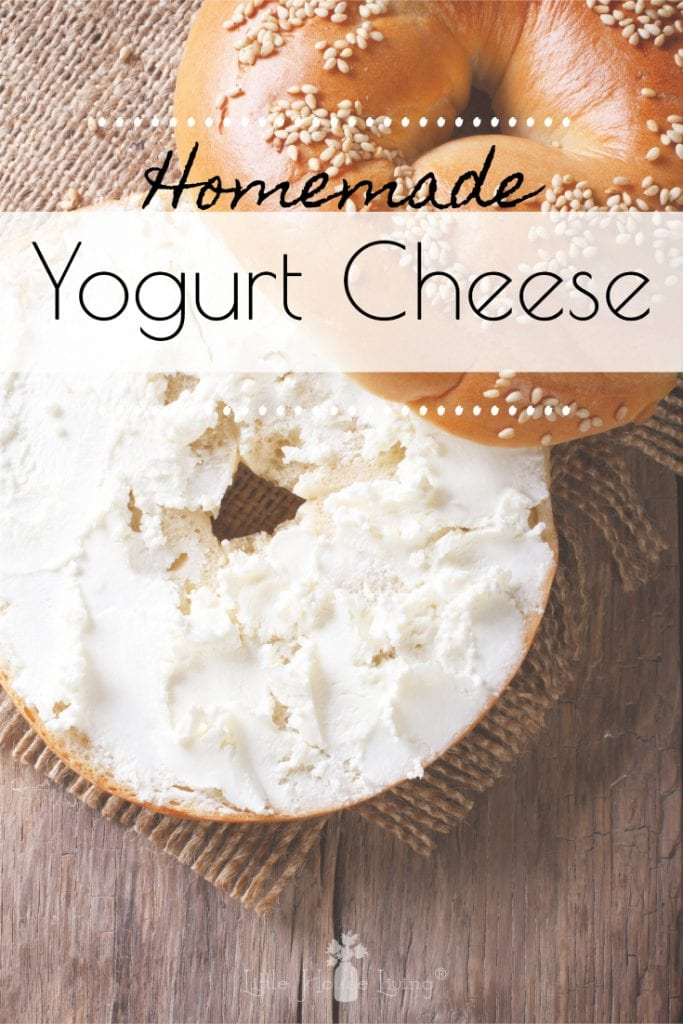 Are you looking for a good cream cheese alternative? Learn how to make cream cheese from yogurt with this Homemade Yogurt Cheese recipe! #homemadecreamcheese #creamcheesealternative #yogurtcheese #howtomakecheesefromyogurt