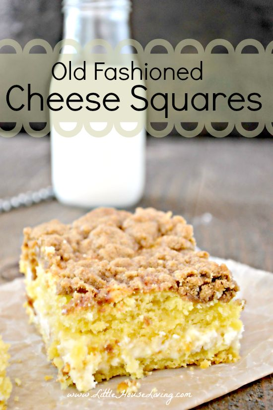 Old Fashioned Cheese Squares