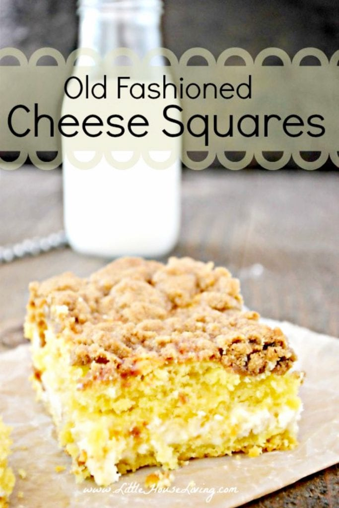 This Old Fashioned Cheese Squares Recipe would be a perfect snack to enjoy over a cup of coffee while you are chatting and catching up with friends and family this holiday season. #oldfashionedrecipes #creamcheesesquares #oldfashionedcheesesquares #dessert