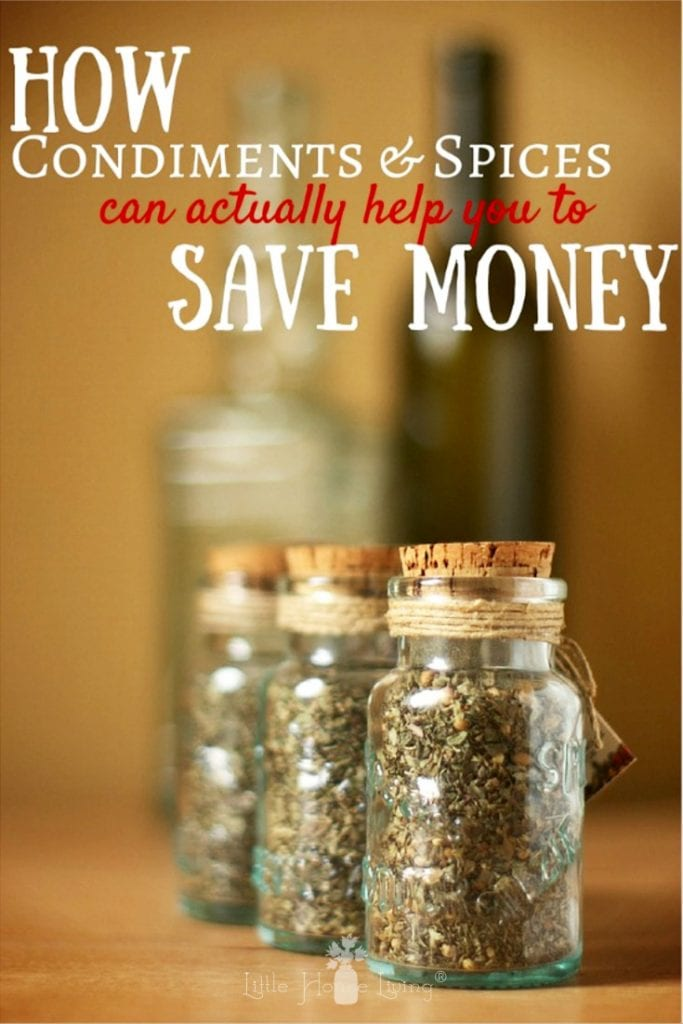When you're starting the frugal lifestyle, the cost of ingredients can sometimes seem overwhelming. Learn how spices save money, making spices and condiments a worthwhile investment for your pantry. #homemade #makeyourown #frugalliving #pantrystaples #spices #condiments