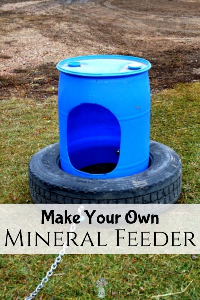 Do you have a farm or homestead with cattle? Save money by learning to make your own Homemade Cattle Mineral Feeder with repurposed and frugal materials. #diycattlefeeder #mineralfeeder #farmlife #homestead #diyonthefarm #diy