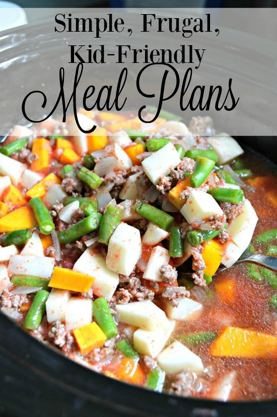 Simple, Frugal, Kid Friendly January Meal Plans