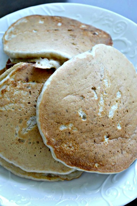 Oat pancakes that we make sometimes for a breakfast treat!