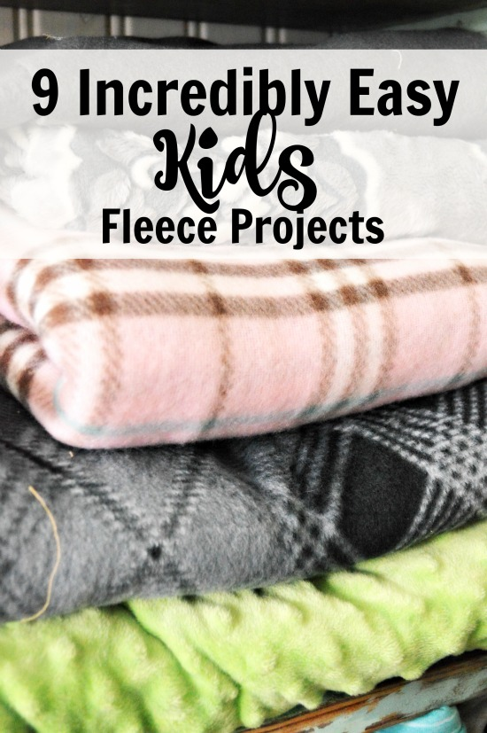 9 Incredibly Easy Kids Fleece Projects