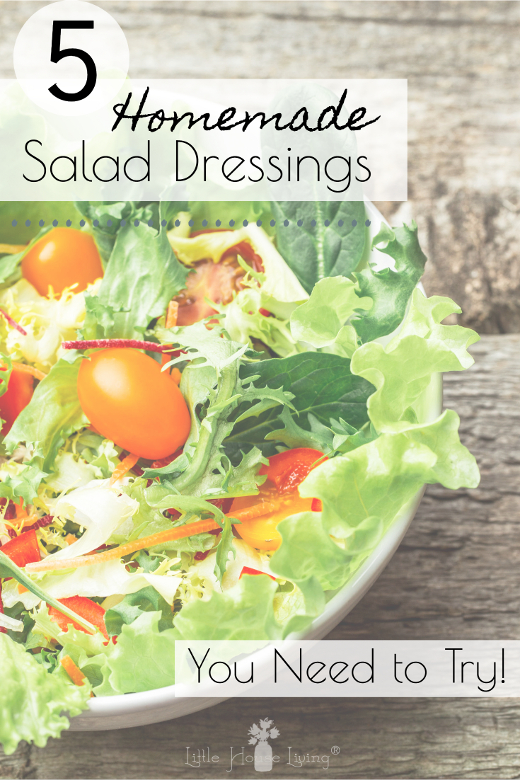 Are you looking for some new ways to top your salad? This Homemade Salad Dressings List will give you several new and easy recipes to enjoy! #salad #saladdressing #homemadedressing #recipes