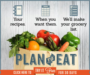 Plan to Eat Menu Planner