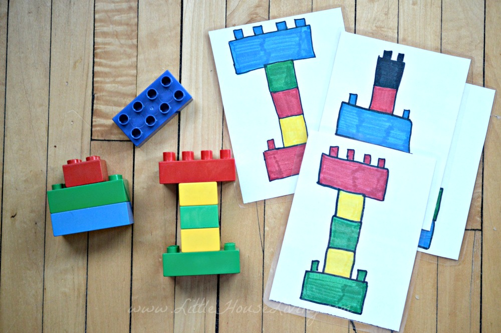 Busy Bags for Preschoolers Lego Game