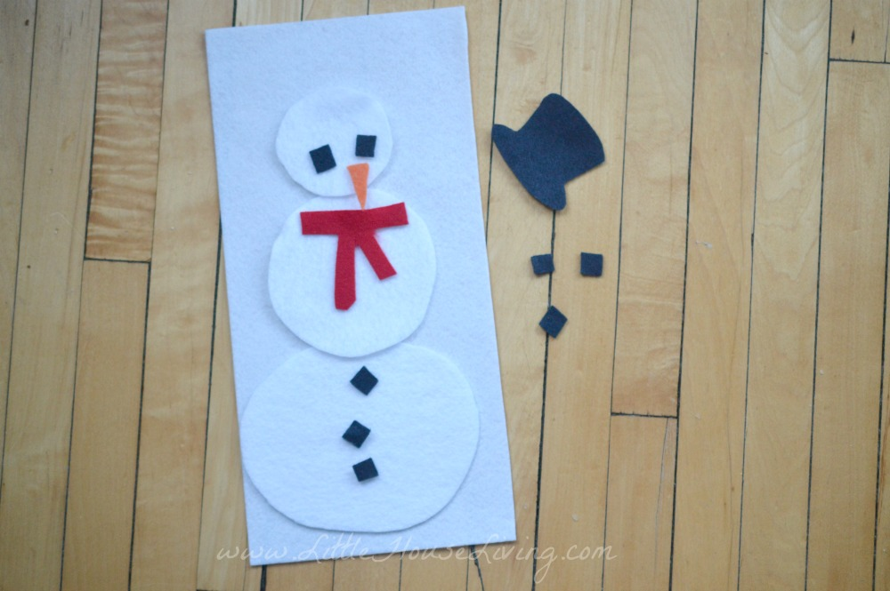 Busy Bags for Preschoolers Snowman Game