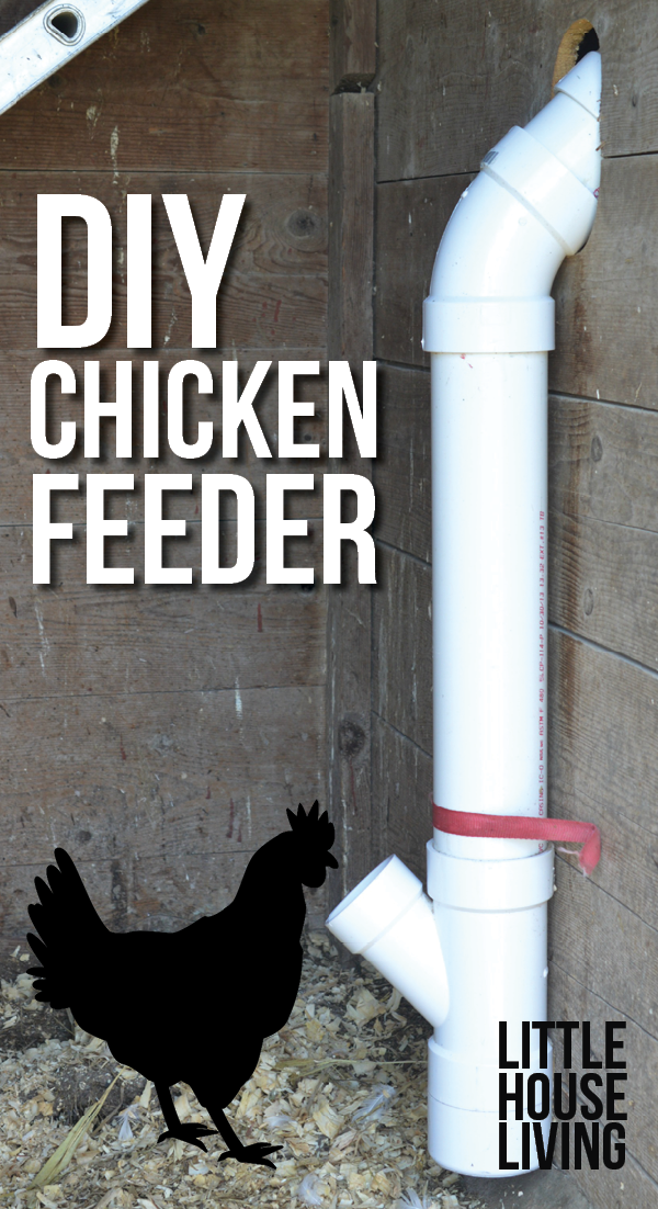 Want to make your own DIY Chicken Feeder? Learn how with this simple tutorial!