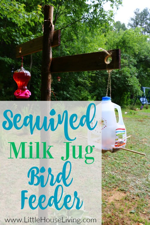 How to make a fun bird feeder out of milk jugs!