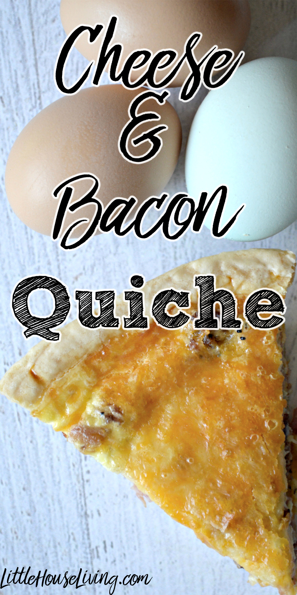 Simple and delicious Cheese and Bacon Quiche recipe!