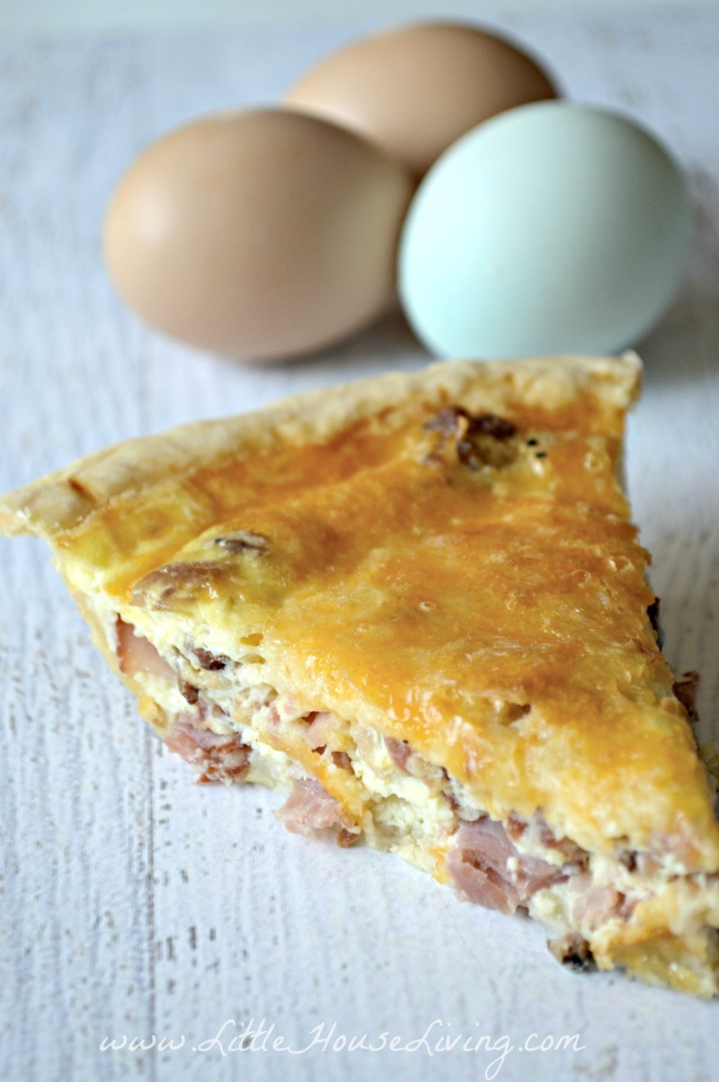 Cheese and Bacon Quiche Recipe