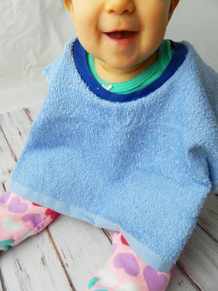Finished towel bib
