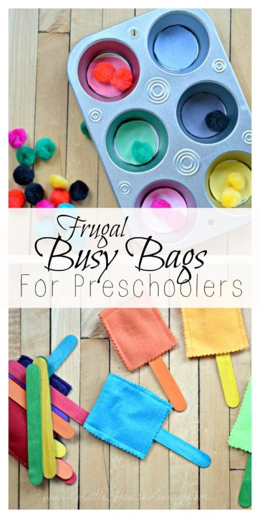 Frugal Busy Bags For Preschoolers