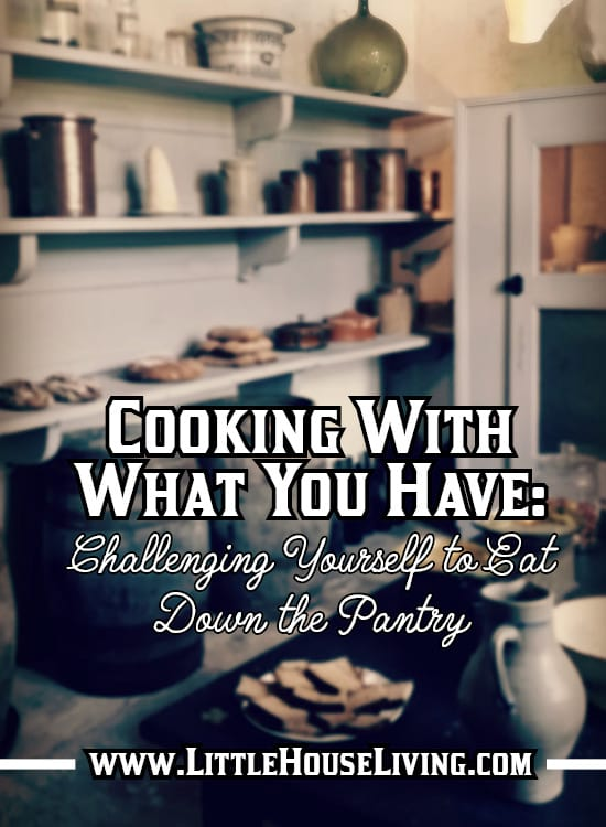 In the last few months before summer's bounty, we like to have a little pantry challenge in my house...a challenge to eat up what's in the pantry! #pantrychallenge #cookingwithwhatyouhave #eatdownthepantry #nospend