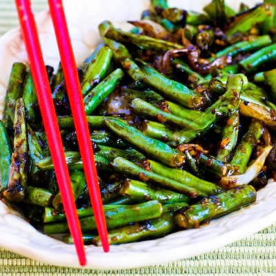 Garlicky Green Bean Stir Fry
