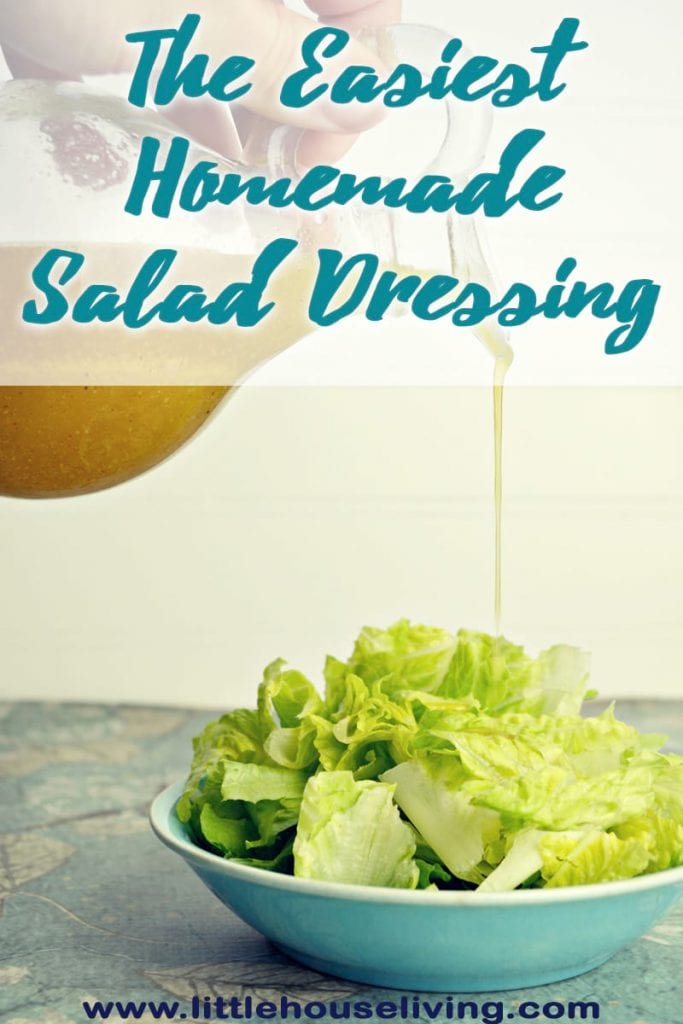 If you need a fast salad dressing recipe, this one is the one to make! Only 4 basic ingredients that you already have in your pantry. So simple. #easysaladdressing #homemadedressing #saladdressing #makeyourown #glutenfree