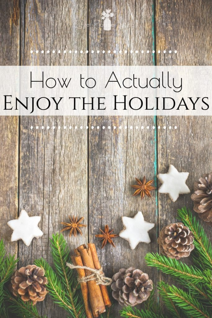 Do you struggle with stress during what should be the most peaceful time of year? Here are some tips and ideas that might help you be able to finally enjoy the holidays. #enjoytheholidays #christmasseason #christmasstress